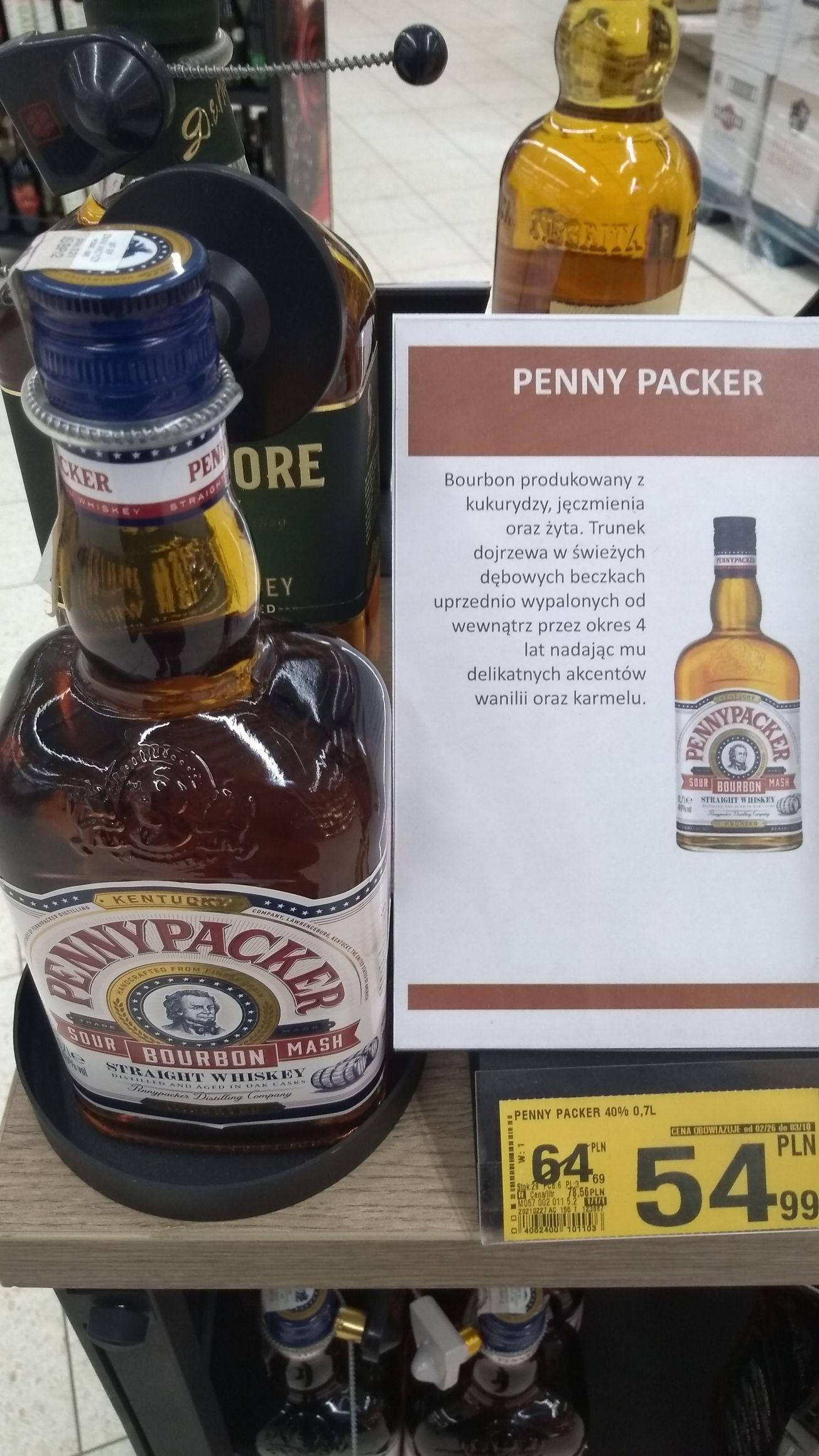 Bourbon Whiskey PennyPacker 0.7l. Auchan