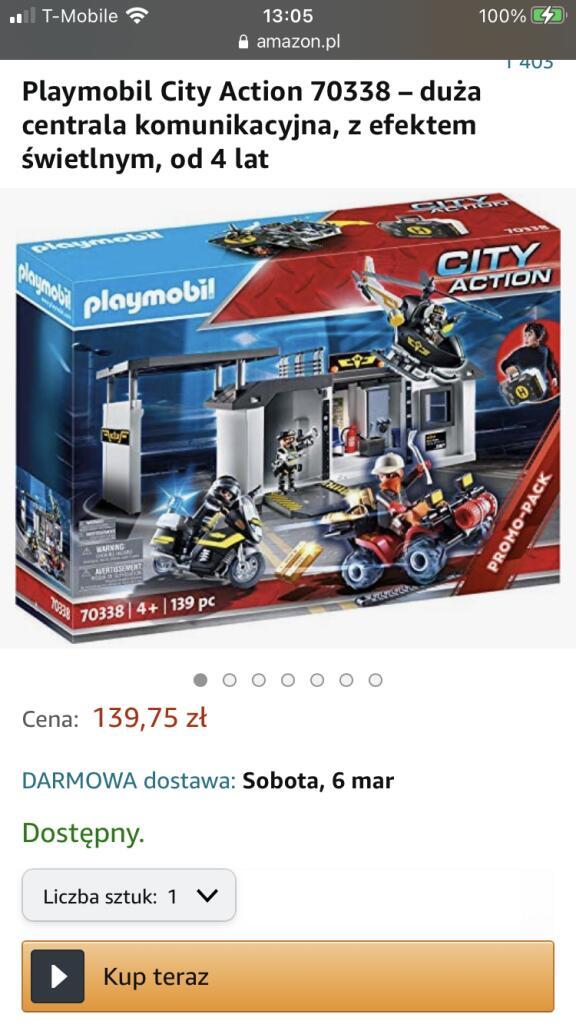Playmobil 70338 Przenośna centrala jednostki specjalnej