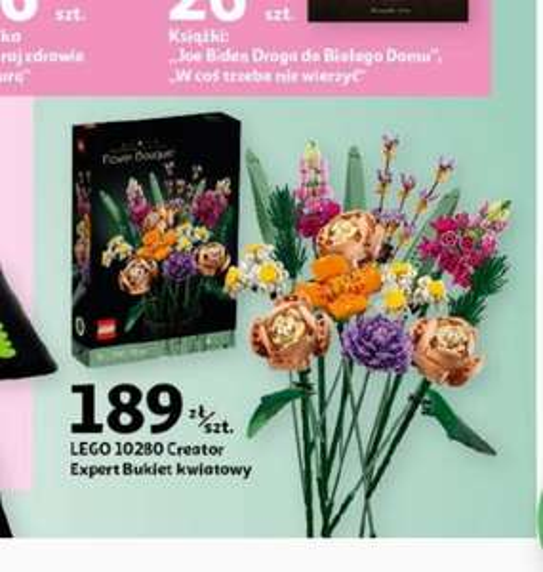 Lego 10280 bukiet kwiatowy na Dzień Kobiet- auchan