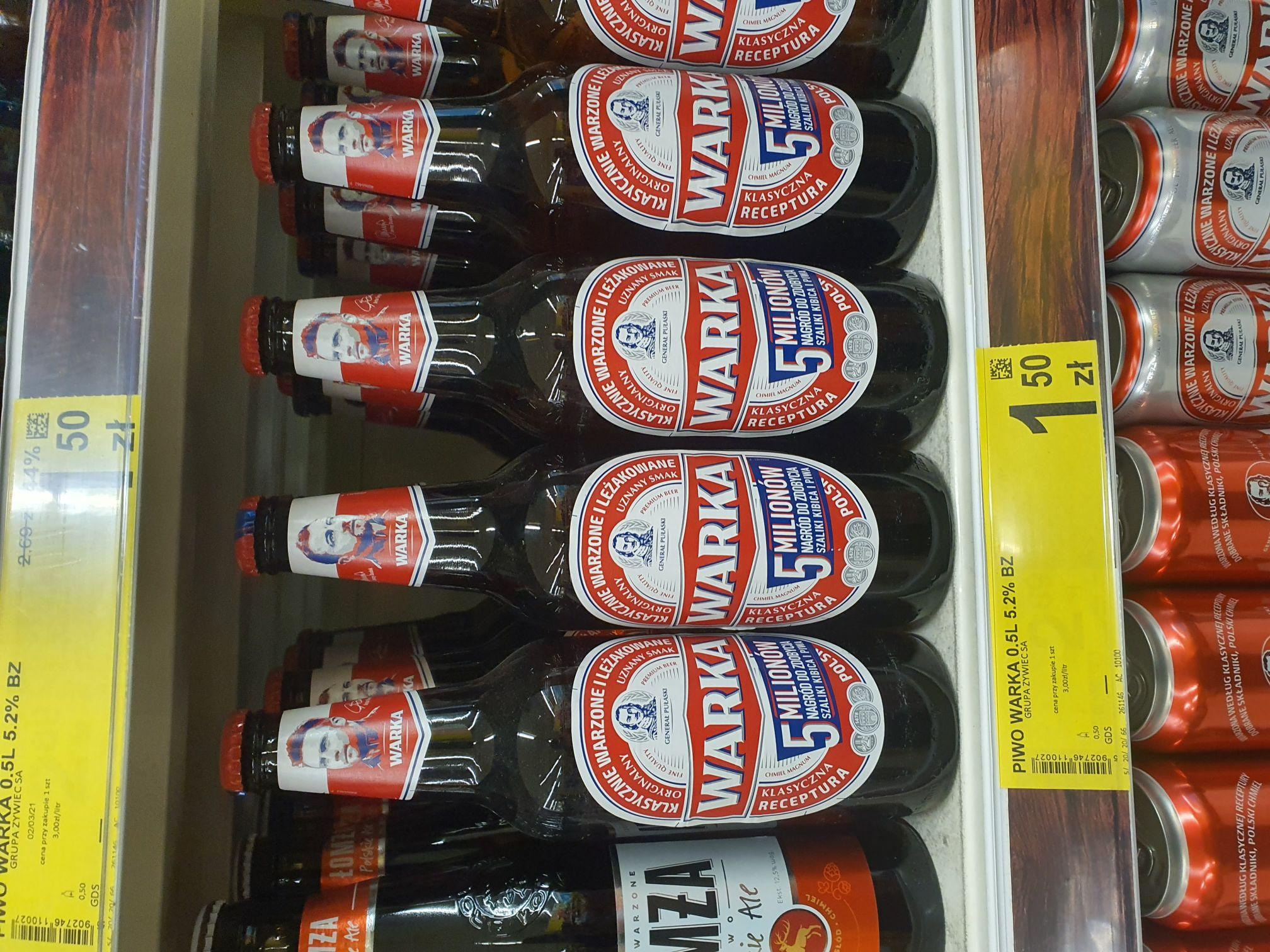Piwo warka bydgoszcz Carrefour glinki