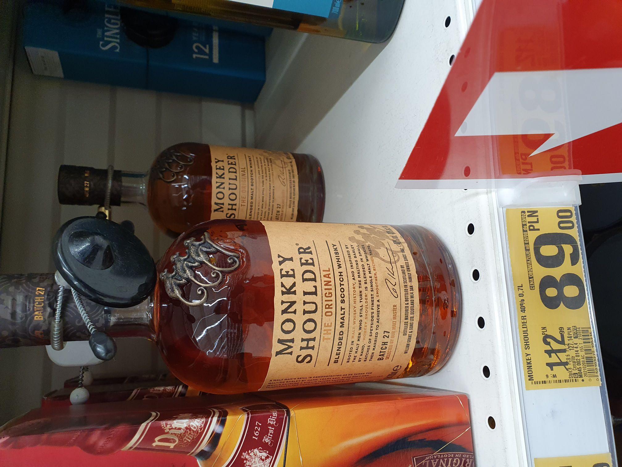 Monkey Shoulder Blended Malt Whisky 0,7l Auchan Janki