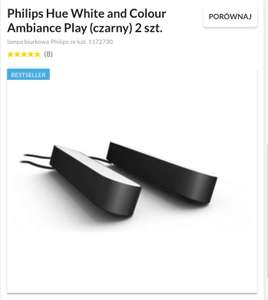 Philips Hue White and Colour Ambiance Play (czarny) 2 szt.