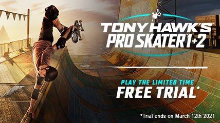 Tony Hawk's Pro Skater 1 + 2 - graj za darmo (1h) do 12 marca Xbox One / Xbox Series S X