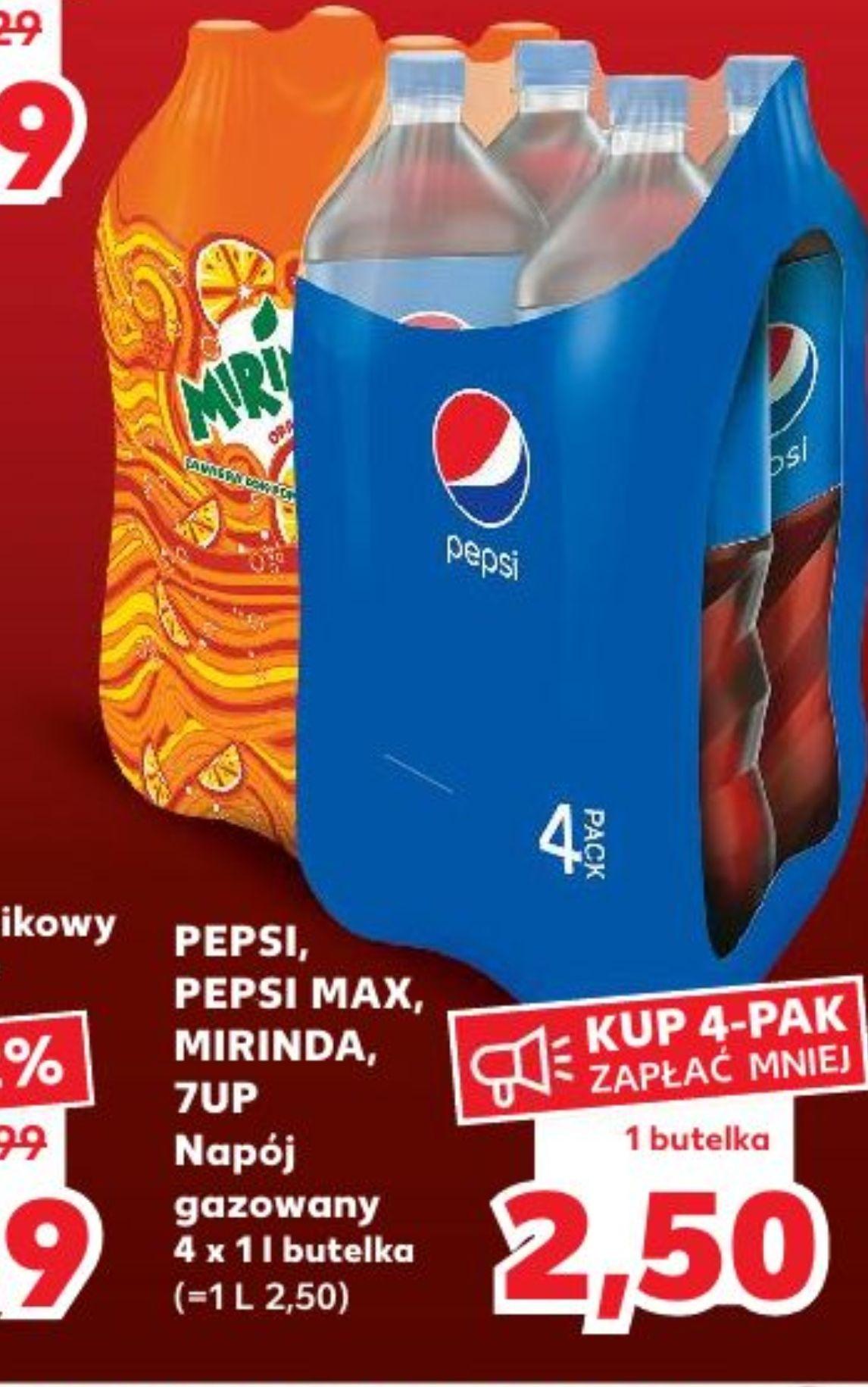 Pepsi w Kaufland 1 L 2.50 sobota