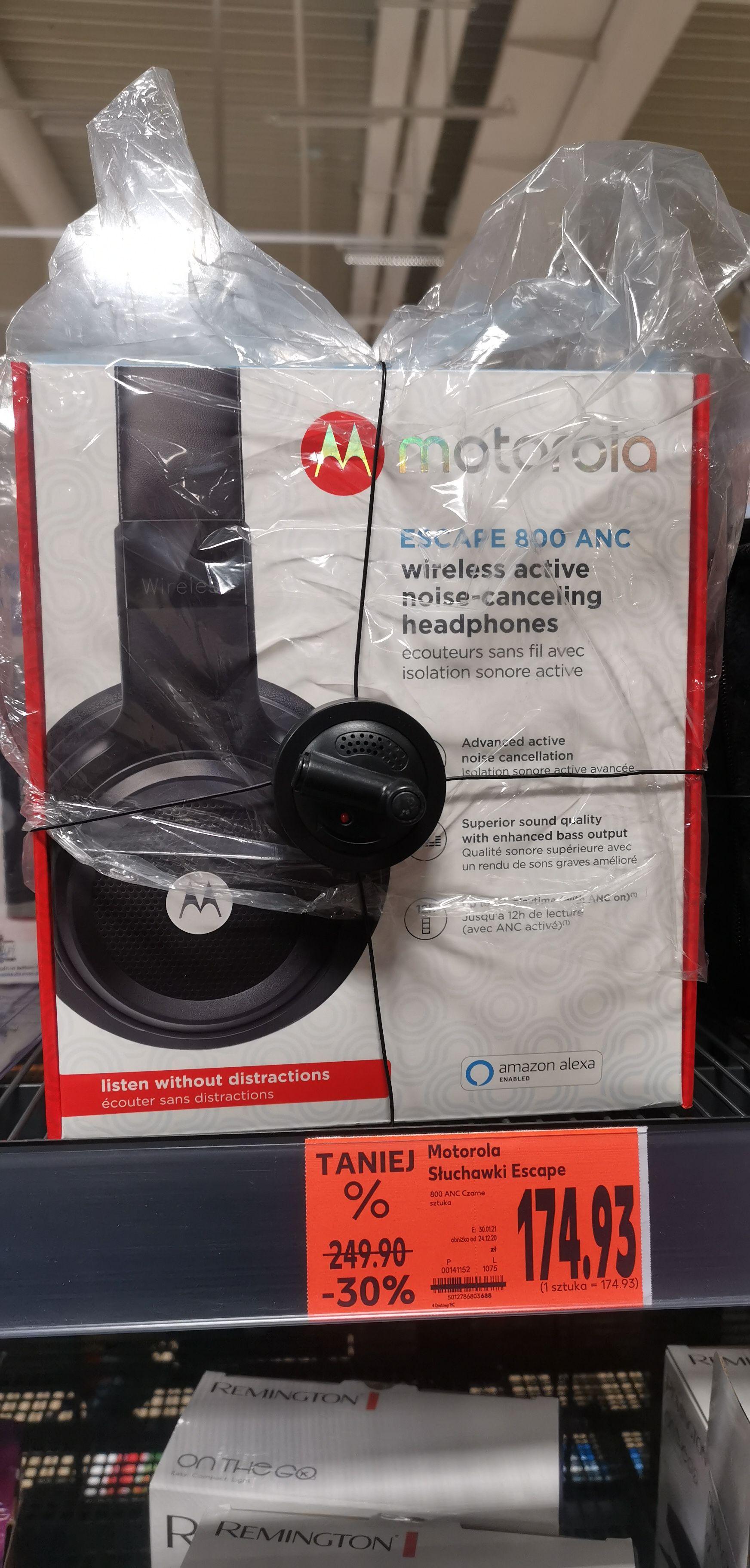 Słuchawki bezprzewodowe Motorola Escape, Kaufland Zabrze.