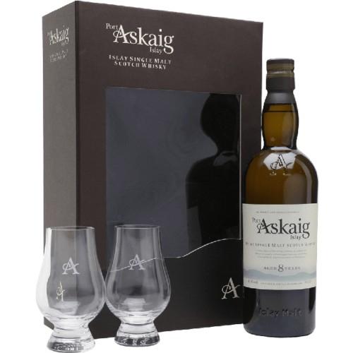 Whisky Port Askaig 8 YO 45,8 % 0,7 L + 2 szklanki Glencairn Glass w sklepie AlkoOutlet