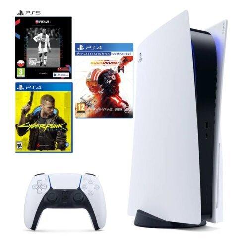 Konsola SONY PlayStation 5 PS5 z napędem i 3 grami