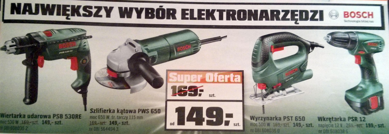 Elektronarzędzia Bosch od 149 zł @ OBI