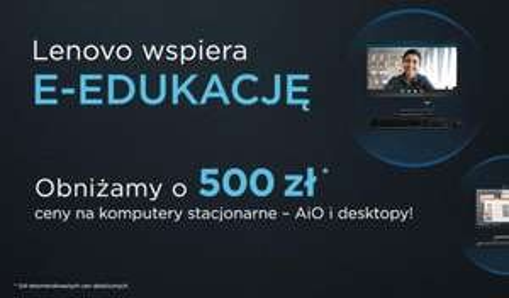 500zł rabatu na komputery stacjonarne i AiO Lenovo w Euro (np. Lenovo Legion T5 - i5-10400, 16GB, 512GB, GTX1660S za 3359,07zł)
