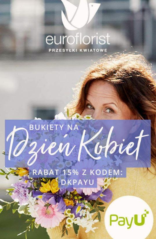 -15% na kwiaty z okazji dnia kobiet na Euroflorist.pl dla użytkowników PayU
