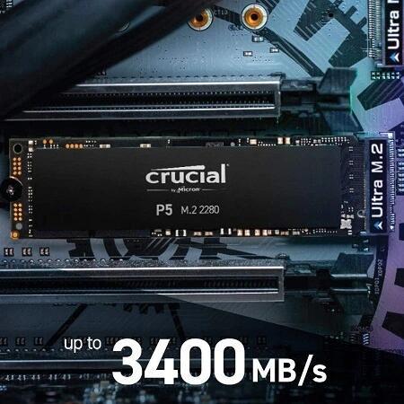 CRUCIAL P5 500GB M.2 NVMe PCIe 2280 3400/3000MB/s
