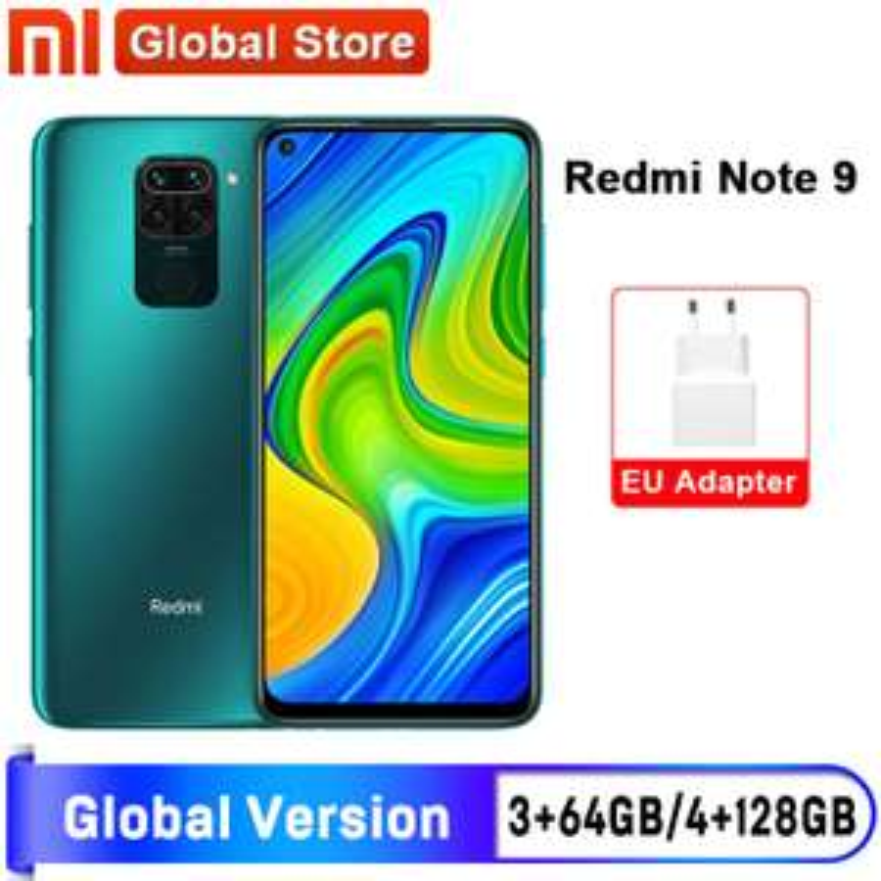 "Smartfon Xiaomi Redmi Note 9 Global 64GB Smartphone MTK Helio G85 Octa Core 48MP Quad 6.53"" 5020mAh - 136.99 USD"