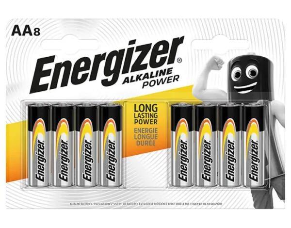 Baterie ENERGIZER AA/AAA Alkaline Power 8szt - Media Markt
