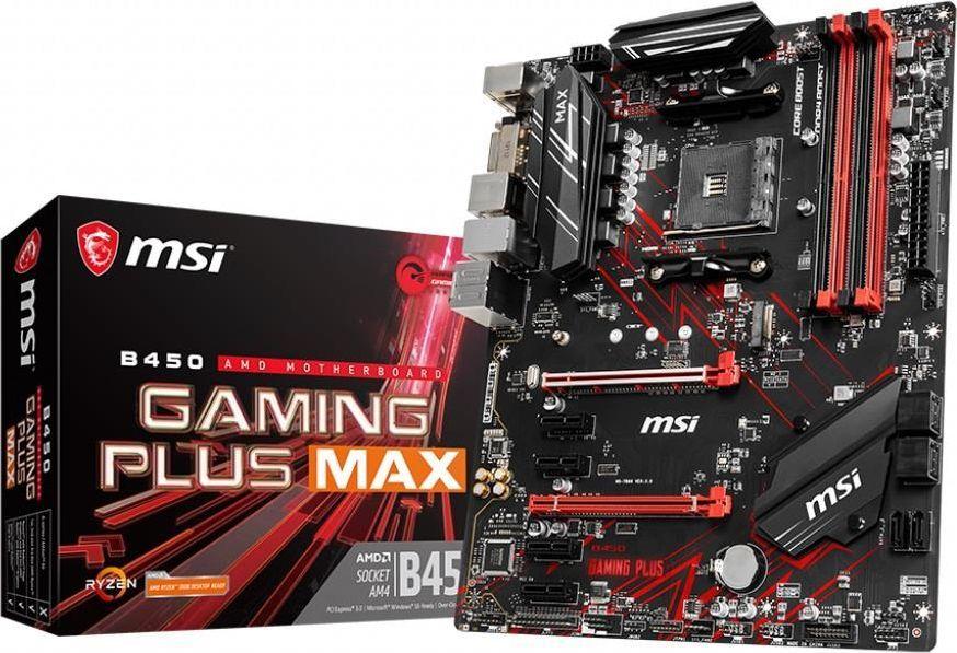 Płyta główna MSI B450 GAMING PLUS MAX (AM4, ATX)