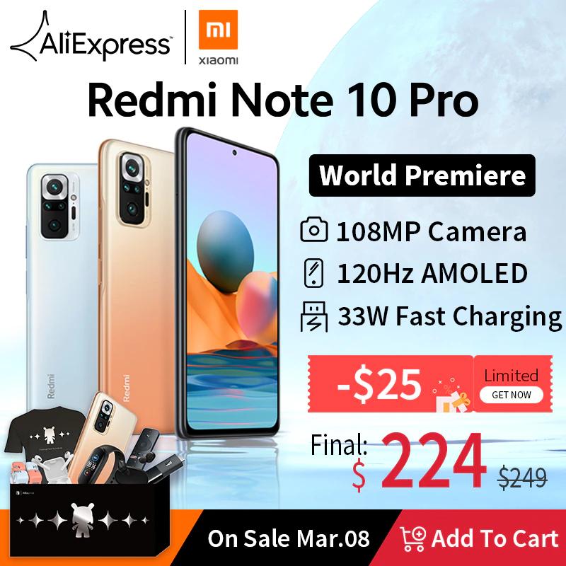 Redmi Note 10 Pro za 224$ z kuponem na 25$.