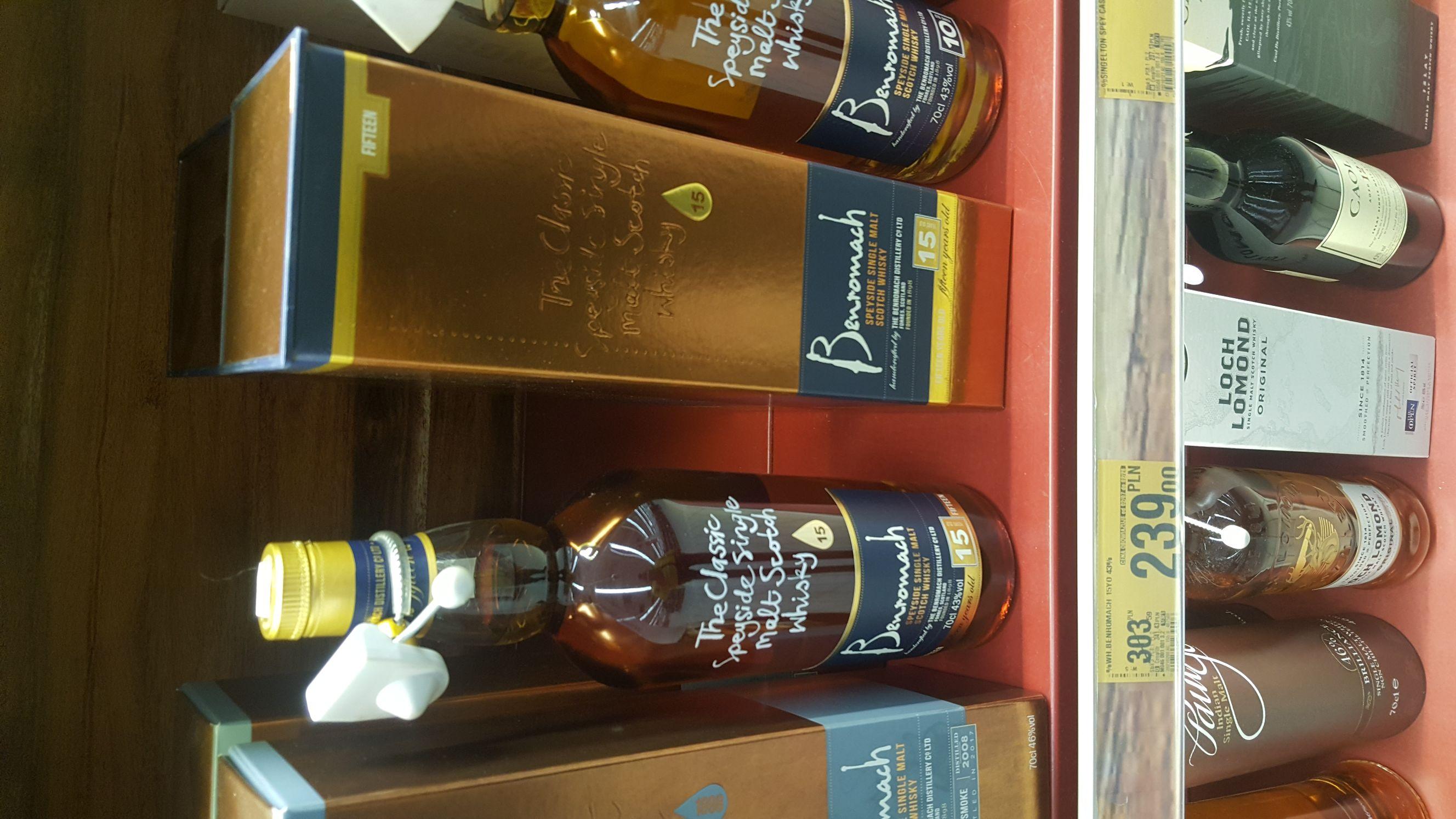 whisky Benromach 15 43% 0.7 Auchan Łódź Piłsudskiego