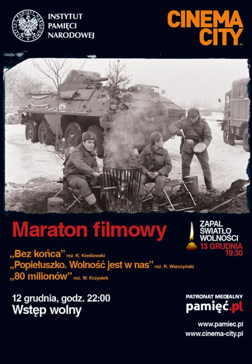 DARMOWY maraton filmowy - 12 grudnia o godz. 22.00 w wybranych kinach w całej Polsce @ Cinema City