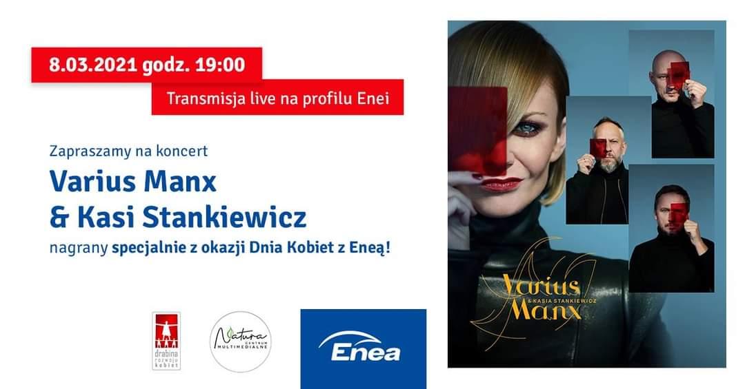 Dzień Kobiet. Koncert Varius Manx & Kasia Stankiewicz. 8 marca 2021 19:00 online za darmo