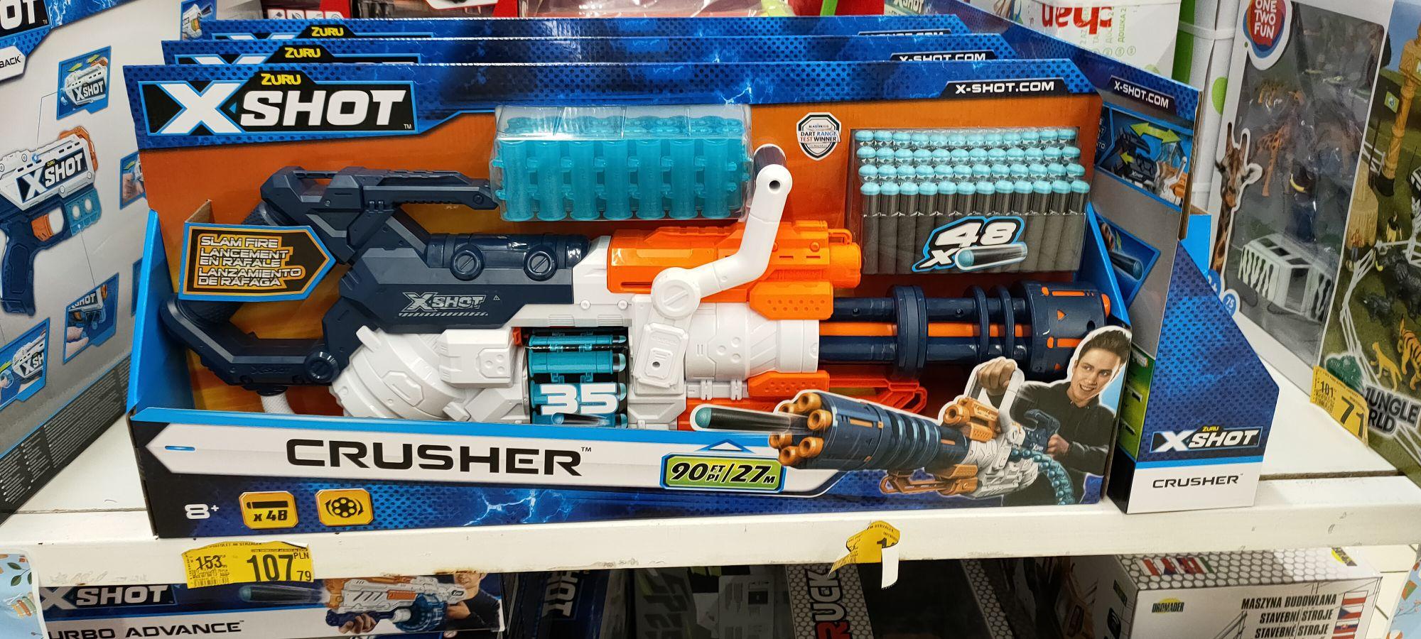 X-shot Crusher minigun na strzałki piankowe, upolowane w Auchan Bonarka Kraków
