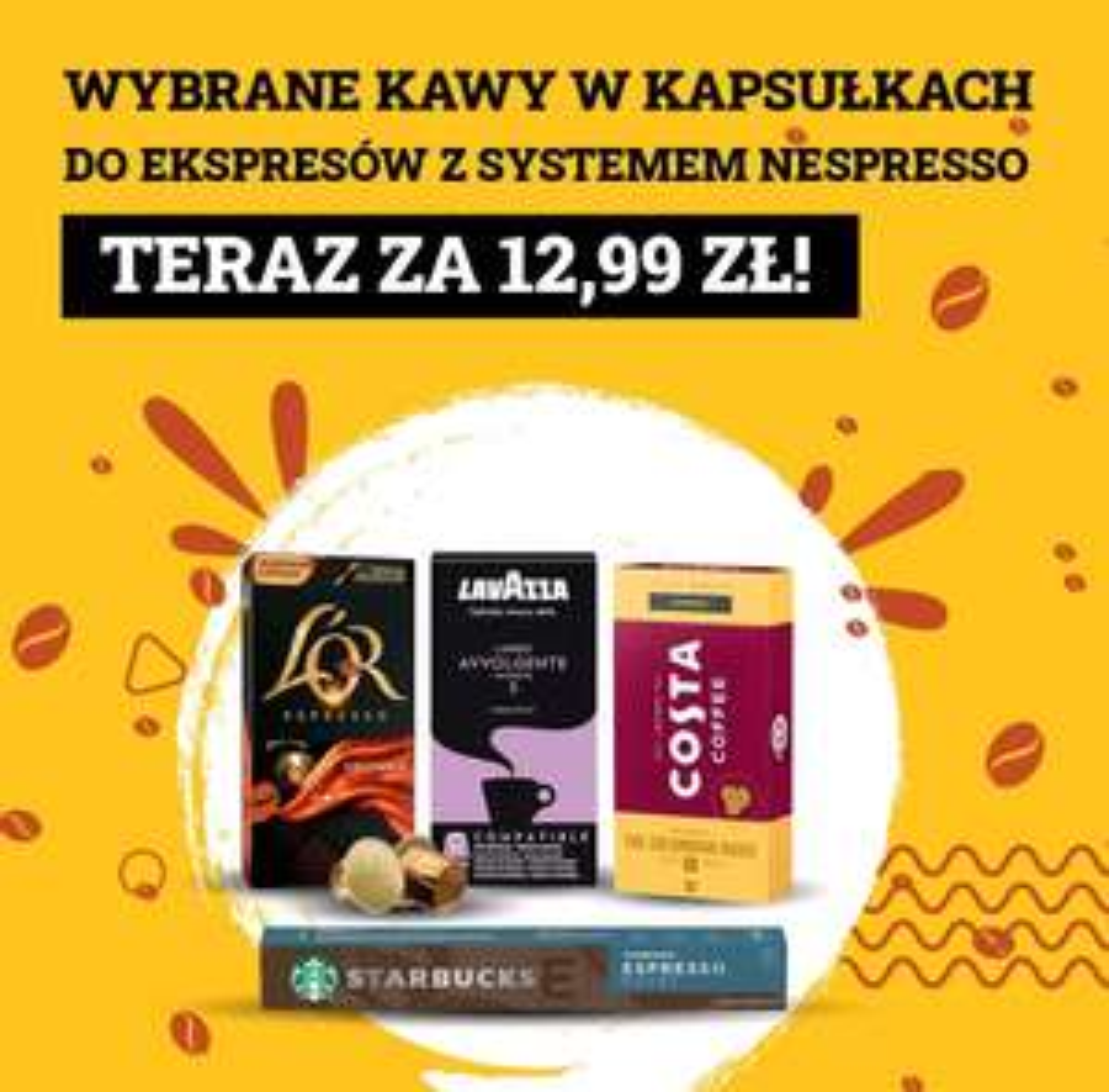 Kapsułki Starbucks, Costa, Lavazza, L'or do Nespresso po 12,99 w Euro
