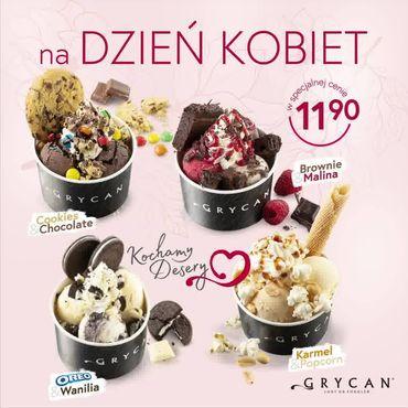 Na dzień kobiet desery lodowe na wynos za 11,90zł u Grycana