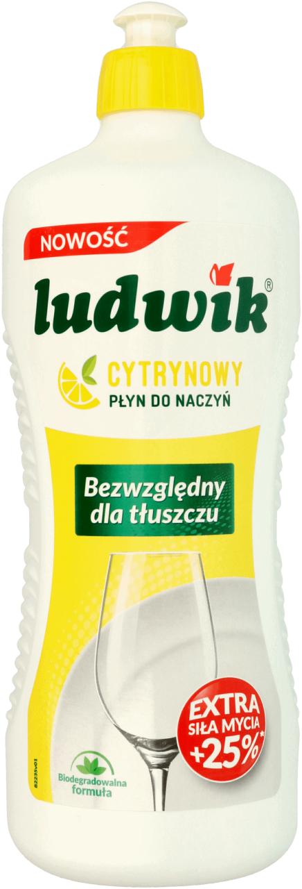 Płyn do mycia naczyń cytrynowy i miętowy Ludwik 900 ml w Rossmann