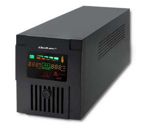 Zasilacz awaryjny UPS Qoltec Monolith (1200VA/720W, 2xFR, AVR, USB, LCD)