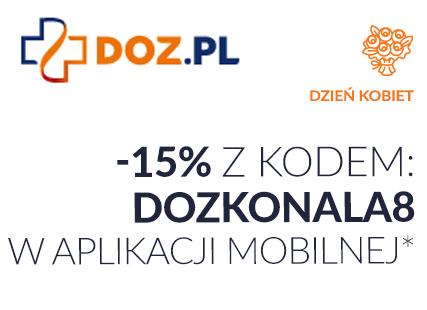 - 15% z okazji Dnia Kobiet w aplikacji mobilnej DOZ / MWZ 50 zł