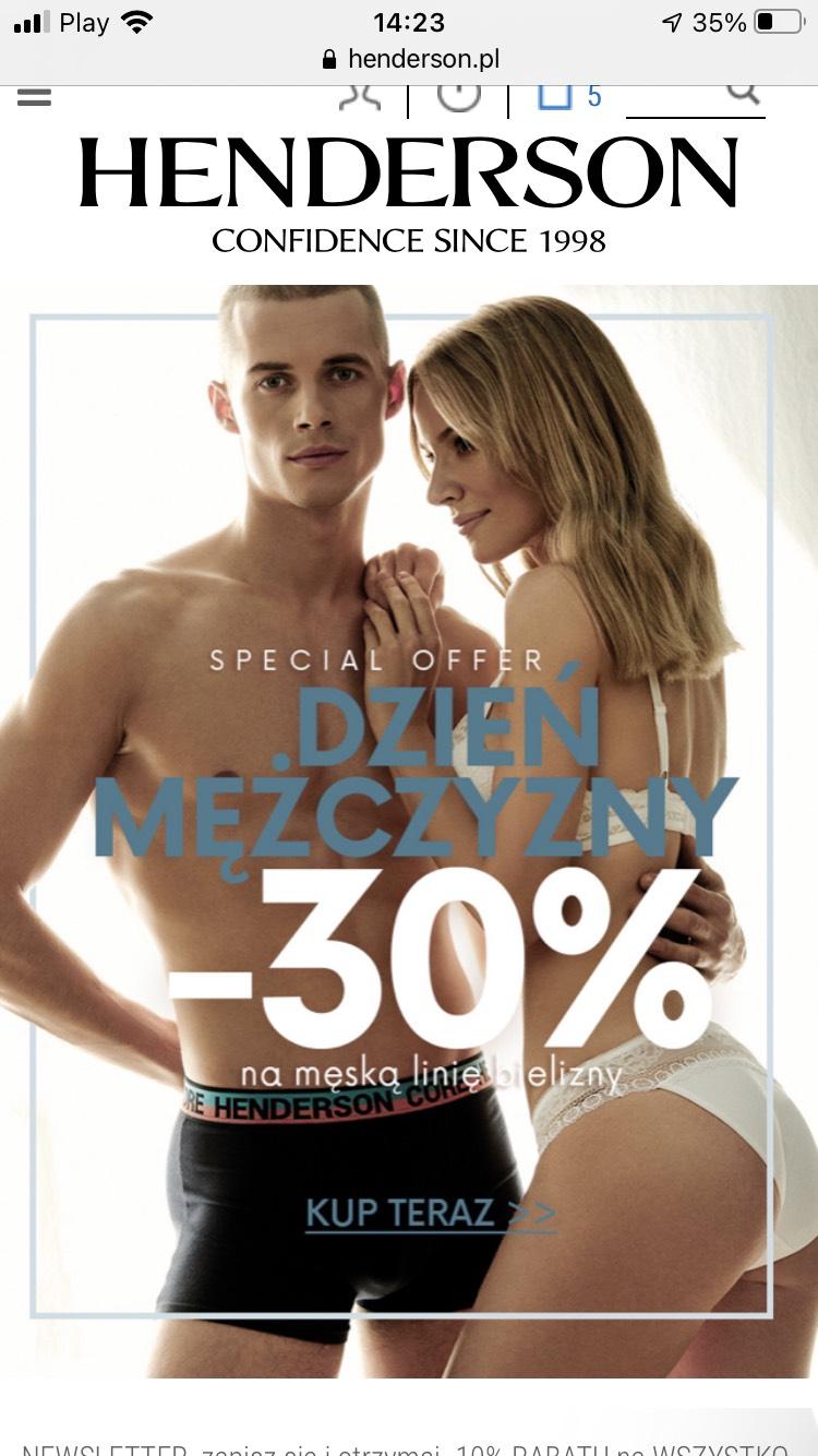 30% zniżki na Henderson - produkty nieprzecenianie
