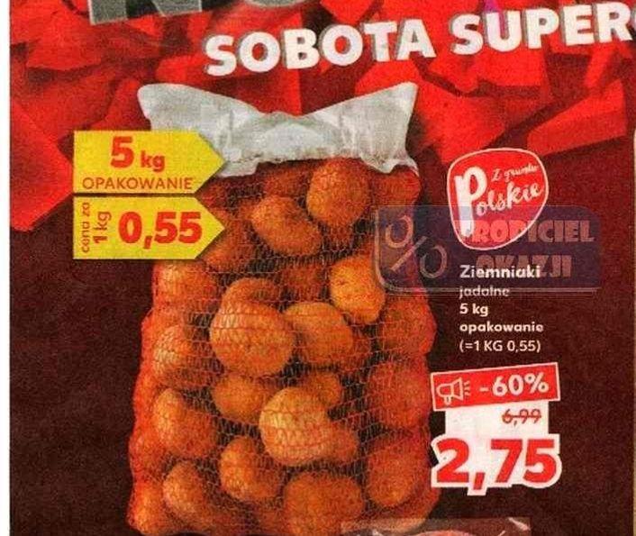 Ziemniaki 5 kg za 2,75 zł (0,55 zł/kg) w Kauflandzie