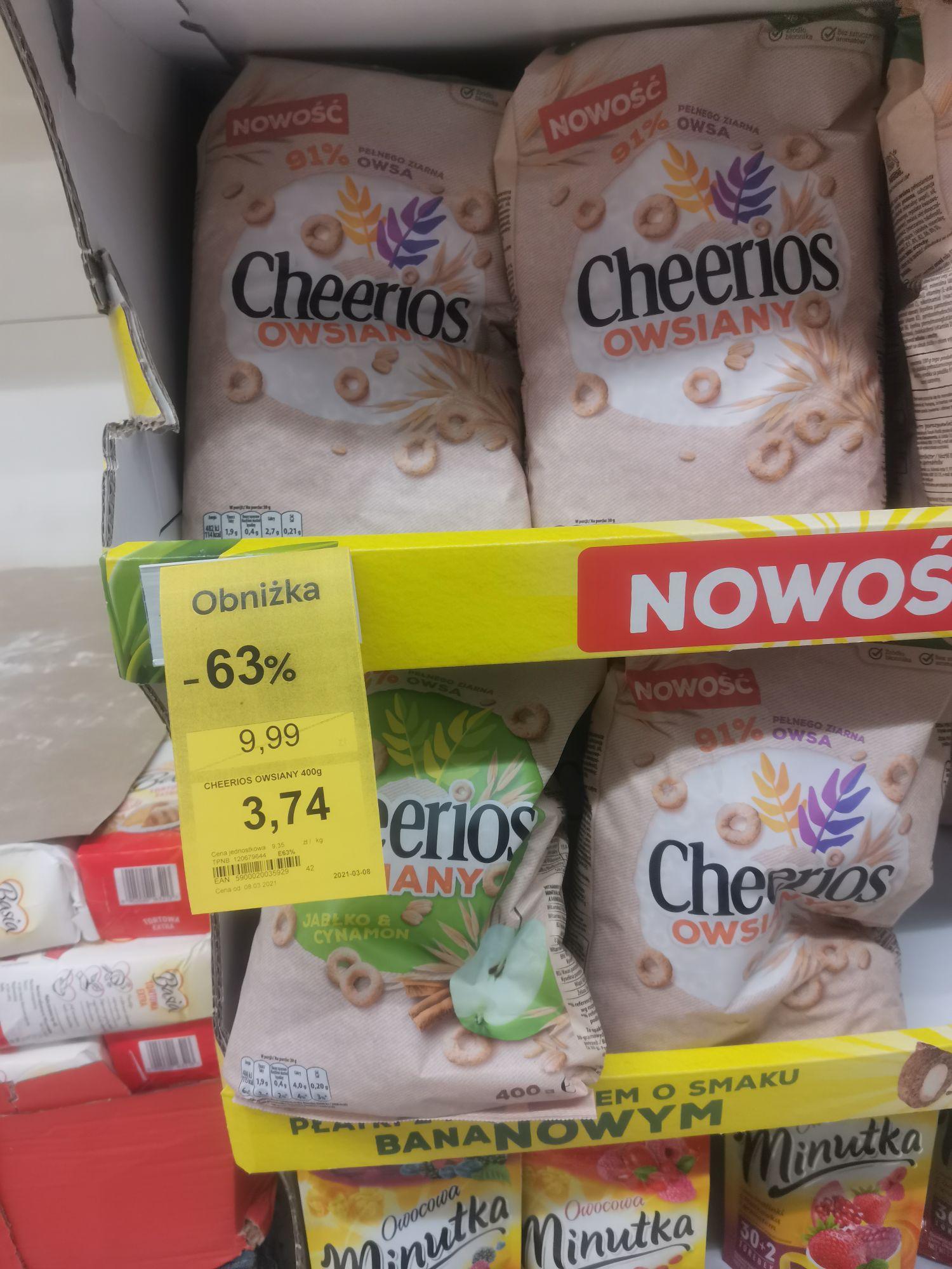 Cheerios owsiane i jabłko-cynamon TESCO