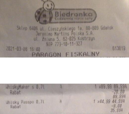 Biedronka - Whisky/Bourbon Maker's Mark 0,7l