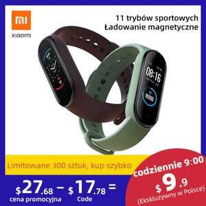 Xiaomi Mi Band 5 - Ponownie dostępny od 9. do 12. marca - AliExpress Flash Sale (9,90$)