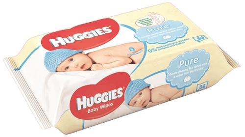 Huggies pure chusteczki 56 szt. za 4,99 zł + Darmowa dostawa @krówka