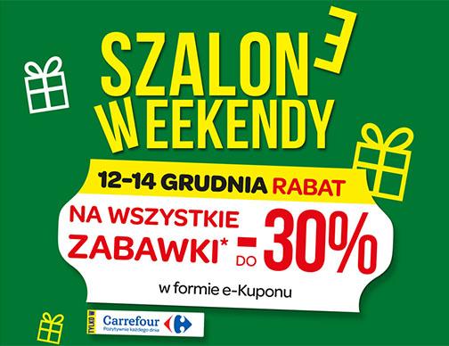 12-14 grudnia do rabat na wszystkie zabawki (w formie e-kuponu) @ Carrefour