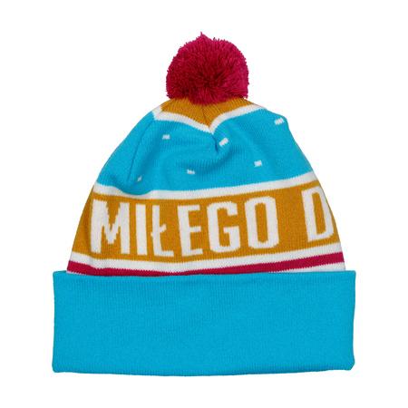 Zimowa czapka z nadrukiem Miłego Dnia