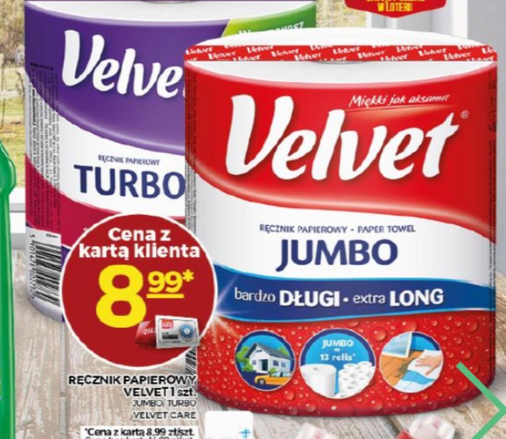 Ręcznik papierowy XXL Velvet Jumbo i Velvet Turbo. Topaz.