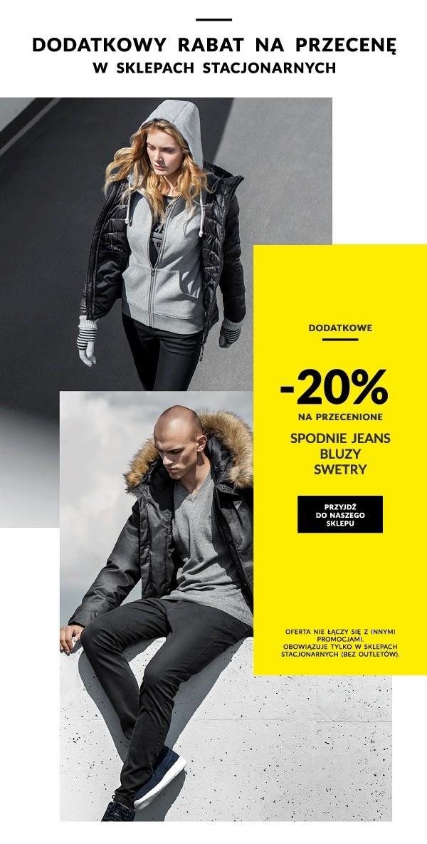[Sklepy stacjonarne] 20% dodatkowego rabatu na wyprzedaż spodni, bluz oraz swetrów @ Diverse