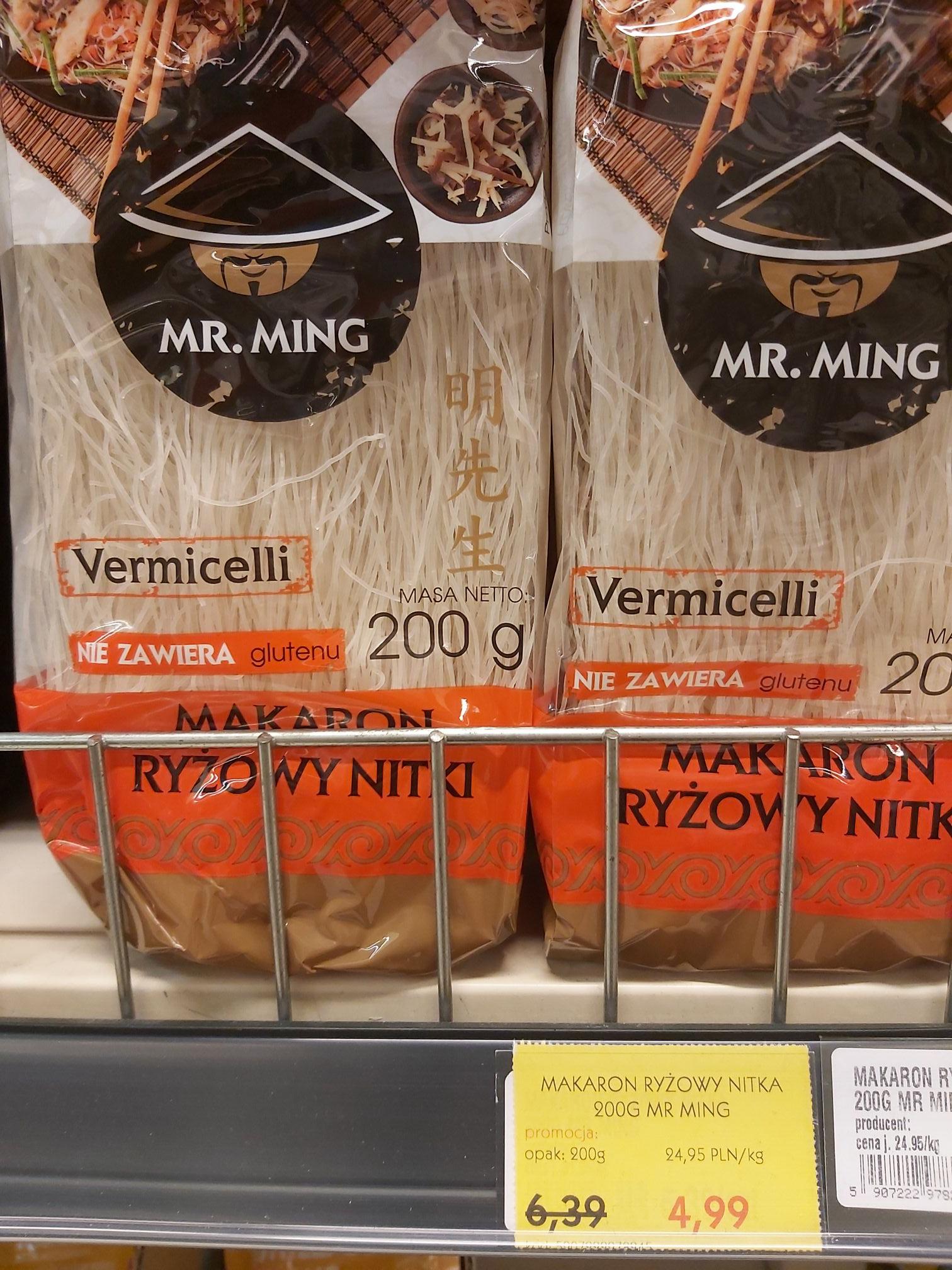 Mr Ming makaron ryżowy nitka 200gram Alma Krakow