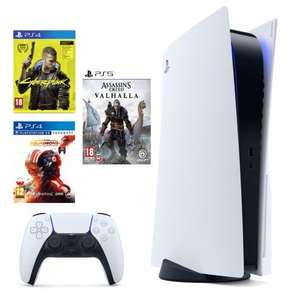 Konsola SONY PlayStation 5 + Cyberpunk 2077 + Assassin's Creed: Valhalla + Star Wars: Squadrons