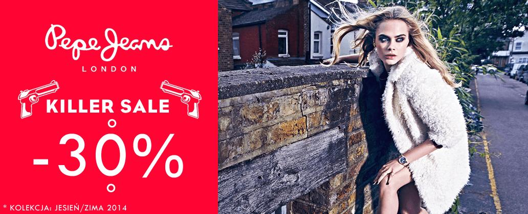 30% rabatu na produkty Pepe Jeans @ Silesia Jeans