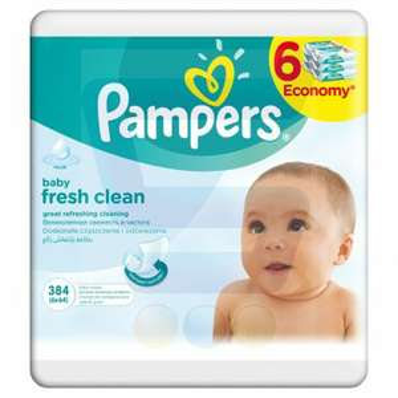 Chusteczki 6x Pampers Fresh Clean za 4,17 paczka.