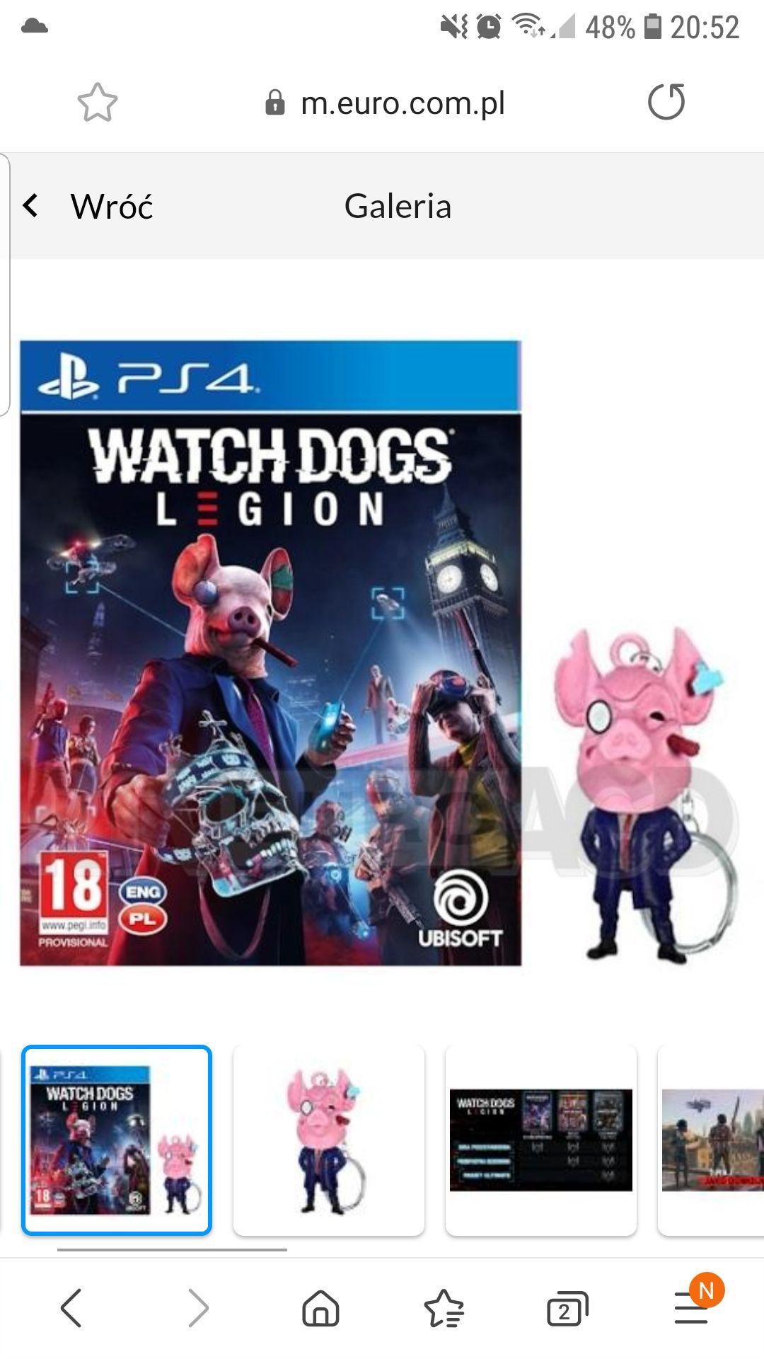 Watch Dogs Legion + brelok PS4 / PS5