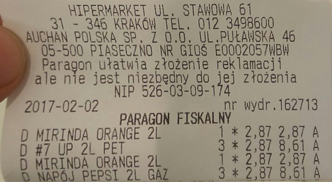 Auchan Pepsi, 7up, Mirinda 2L