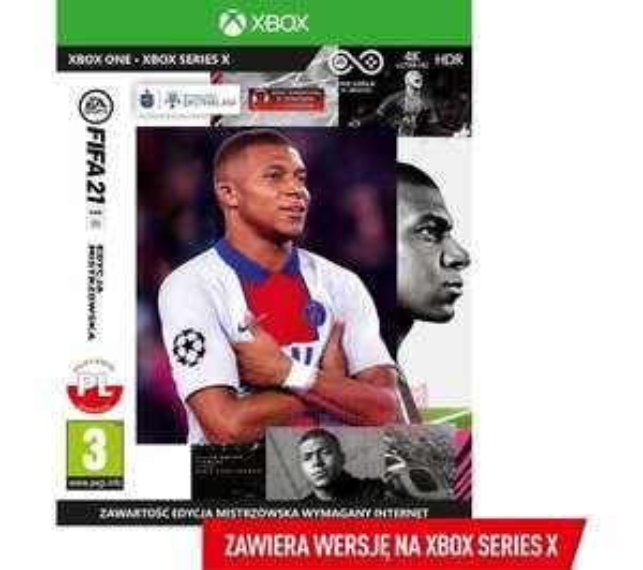 FIFA 21 Edycja Mistrzowska XBOX ONE/SERIES S/SERIES X + Edycja Standardowa PS4/PS5 w tej samej cenie