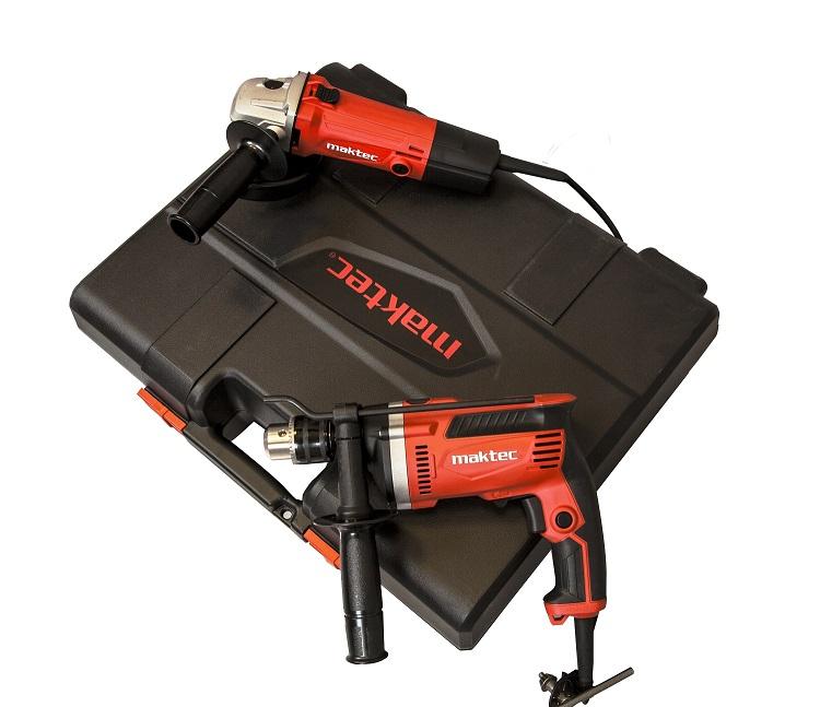 Zestaw MAKTEC Combo MK0001, wiertarka udarowa MT814 + szlifierka kątowa MT963 + walizka :)
