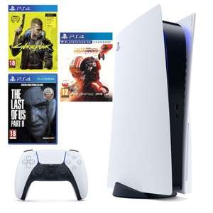 Konsola SONY PlayStation 5 + Cyberpunk 2077 + The Last of Us 2 + Star Wars: Squadrons