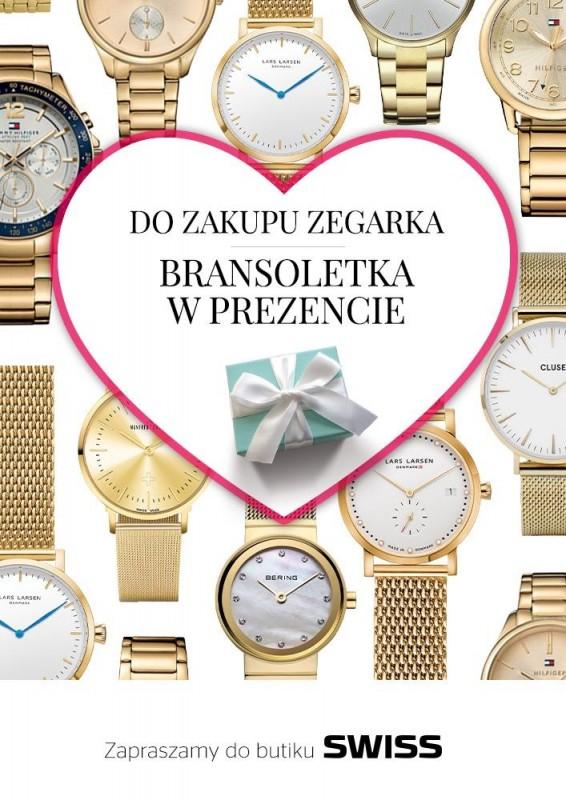 [Walentynki] Przy zakupie zegarka, bransoletka GRATIS @ Swiss
