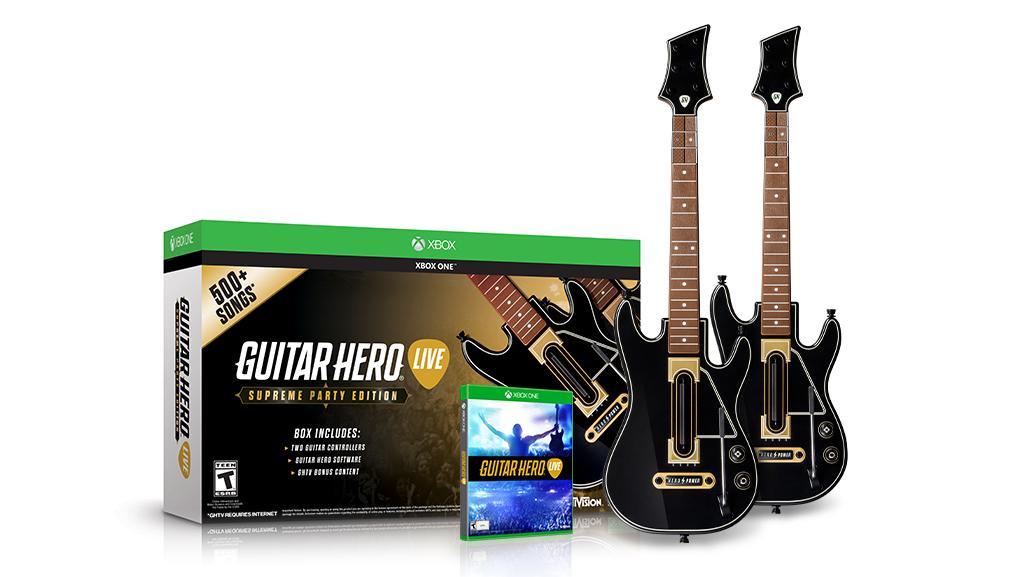Zestaw Guitar Hero Live z 2 gitarami + 500 utworów za 189,90zł @ Ultima