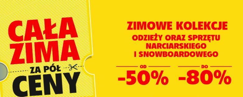 Ski Team - Cała zima -50% - cała odzież i sprzęt narciarski - 40 rat 0%